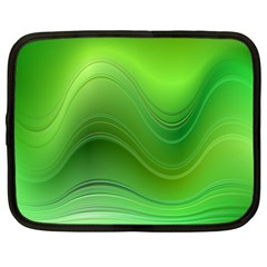 Green Wave Background Abstract Netbook Case (xxl)