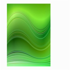 Green Wave Background Abstract Small Garden Flag (two Sides)