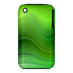 Green Wave Background Abstract Iphone 3s/3gs by BangZart