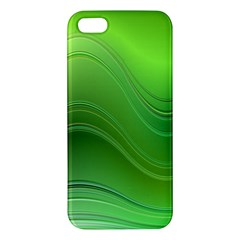 Green Wave Background Abstract Iphone 5s/ Se Premium Hardshell Case