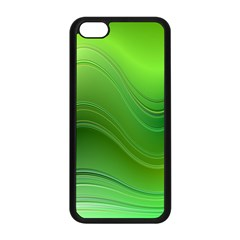 Green Wave Background Abstract Apple Iphone 5c Seamless Case (black)