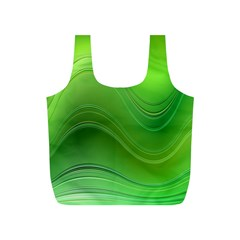 Green Wave Background Abstract Full Print Recycle Bags (s)