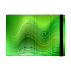 Green Wave Background Abstract Ipad Mini 2 Flip Cases