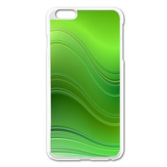 Green Wave Background Abstract Apple Iphone 6 Plus/6s Plus Enamel White Case