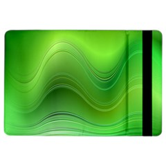 Green Wave Background Abstract Ipad Air 2 Flip