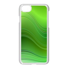 Green Wave Background Abstract Apple Iphone 7 Seamless Case (white)