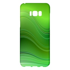 Green Wave Background Abstract Samsung Galaxy S8 Plus Hardshell Case