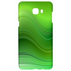Green Wave Background Abstract Samsung C9 Pro Hardshell Case