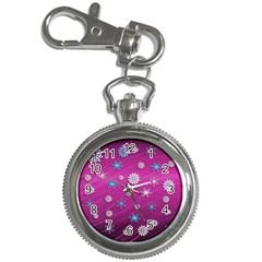 Snowflakes 3d Random Overlay Key Chain Watches
