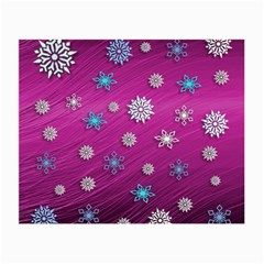 Snowflakes 3d Random Overlay Small Glasses Cloth (2 Side)