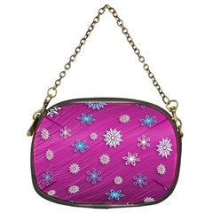 Snowflakes 3d Random Overlay Chain Purses (two Sides)