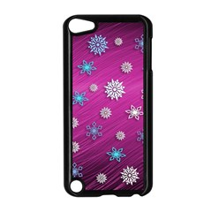 Snowflakes 3d Random Overlay Apple Ipod Touch 5 Case (black) by BangZart