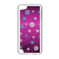 Snowflakes 3d Random Overlay Apple Ipod Touch 5 Case (white)