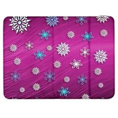 Snowflakes 3d Random Overlay Samsung Galaxy Tab 7  P1000 Flip Case