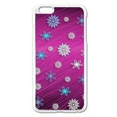 Snowflakes 3d Random Overlay Apple Iphone 6 Plus/6s Plus Enamel White Case by BangZart