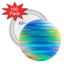 Wave Rainbow Bright Texture 2 25  Buttons (100 Pack)