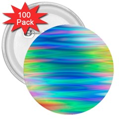 Wave Rainbow Bright Texture 3  Buttons (100 Pack)
