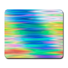 Wave Rainbow Bright Texture Large Mousepads