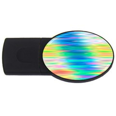 Wave Rainbow Bright Texture Usb Flash Drive Oval (2 Gb)