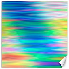 Wave Rainbow Bright Texture Canvas 12  X 12