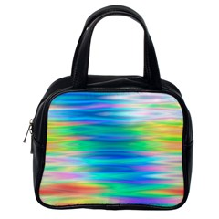 Wave Rainbow Bright Texture Classic Handbags (one Side)