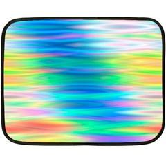 Wave Rainbow Bright Texture Double Sided Fleece Blanket (mini)