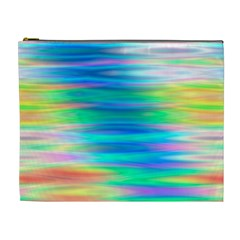 Wave Rainbow Bright Texture Cosmetic Bag (xl)