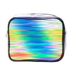 Wave Rainbow Bright Texture Mini Toiletries Bags by BangZart