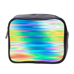 Wave Rainbow Bright Texture Mini Toiletries Bag 2 Side