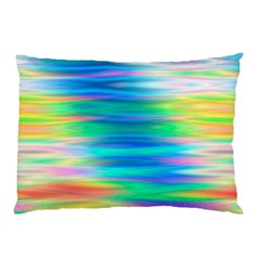 Wave Rainbow Bright Texture Pillow Case (two Sides)