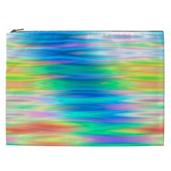 Wave Rainbow Bright Texture Cosmetic Bag (xxl)