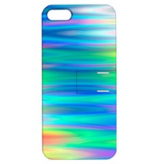 Wave Rainbow Bright Texture Apple Iphone 5 Hardshell Case With Stand