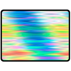 Wave Rainbow Bright Texture Double Sided Fleece Blanket (large)