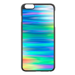 Wave Rainbow Bright Texture Apple Iphone 6 Plus/6s Plus Black Enamel Case