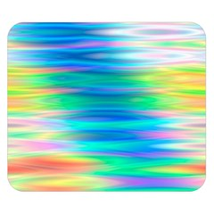 Wave Rainbow Bright Texture Double Sided Flano Blanket (small)