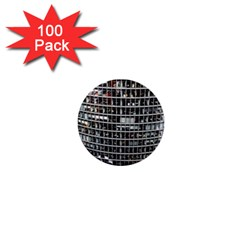 Skyscraper Glass Facade Offices 1  Mini Buttons (100 Pack)