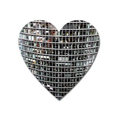 Skyscraper Glass Facade Offices Heart Magnet by BangZart