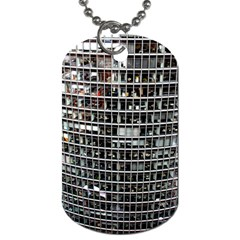 Skyscraper Glass Facade Offices Dog Tag (one Side) by BangZart