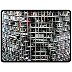 Skyscraper Glass Facade Offices Double Sided Fleece Blanket (large)  by BangZart
