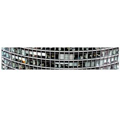 Skyscraper Glass Facade Offices Large Flano Scarf