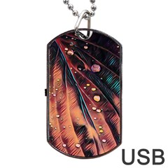 Abstract Wallpaper Images Dog Tag Usb Flash (one Side)