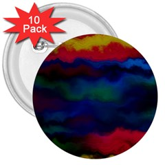 Watercolour Color Background 3  Buttons (10 Pack)
