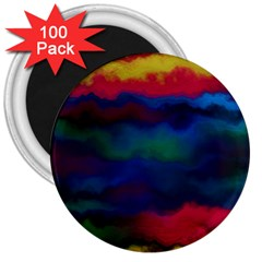 Watercolour Color Background 3  Magnets (100 Pack)