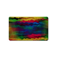 Watercolour Color Background Magnet (name Card)