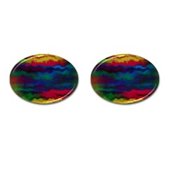 Watercolour Color Background Cufflinks (oval)