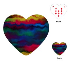 Watercolour Color Background Playing Cards (heart)