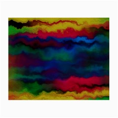 Watercolour Color Background Small Glasses Cloth (2 Side)