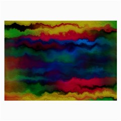 Watercolour Color Background Large Glasses Cloth (2 Side)