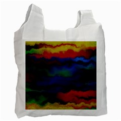 Watercolour Color Background Recycle Bag (one Side)