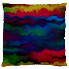 Watercolour Color Background Large Cushion Case (two Sides)